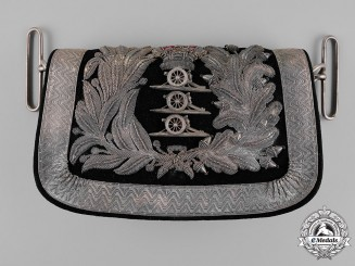 United Kingdom. A Victorian Royal Artillery Officer's Cross Belt Cartridge Pouch
