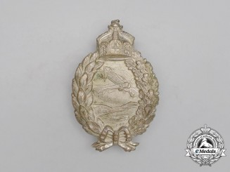 A First War Prussian Pilot's Badge by C. E. Juncker; Stamped Version