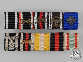 Germany, Wehrmacht. Two Third Reich Period Medal Ribbon Bars