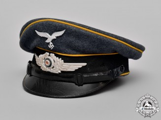 Germany. A Luftwaffe NCO's Visor Cap by Robert Lubstein, Dated 1936