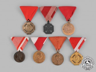 Austria, Empire. A Lot of Seven Medals & Awards