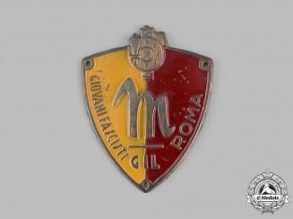 Italy, Kingdom. GIL  A Giovani Fascist Youth Roma Sleeve Badge