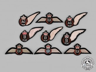 Canada. A Lot of Nine Royal Canadian Air Force (RCAF) Badges