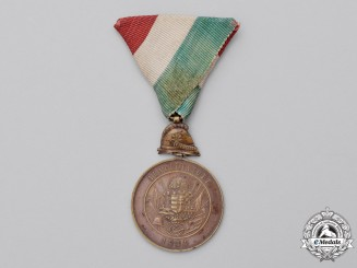 Hungary, Kingdom. An Alapittatott Fire Brigade Long Service Medal for Ten Years' Service