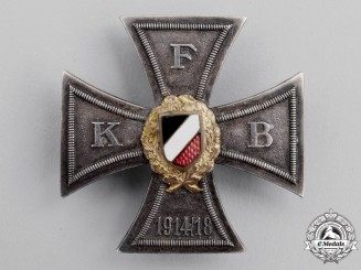 Germany, Wiemar Republic. A FKB (Front Fighter's League) Honour Cross