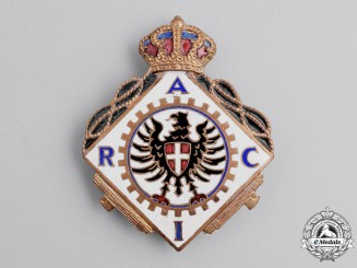 Italy. An Automobile Club Badge, c.1937