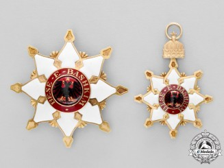 Albania, Kingdom. An Order of the Black Eagle, Grand Cross Set Attributed to Prince William