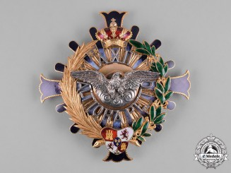 Spain, Kingdom. A Civil Order of Alfonso XII, Grand Cross Star in Gold