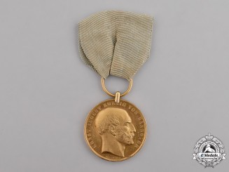Hannover, Kingdom. A Gold Medal of Merit, c.1865