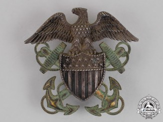 United States. A Navy Officer's Cap Badge, c.1941