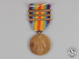 United States. A World War I Victory Medal, 3 Clasps