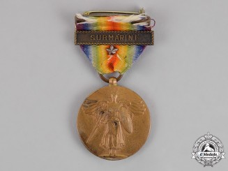 United States. A World War I Victory Medal, Submarine