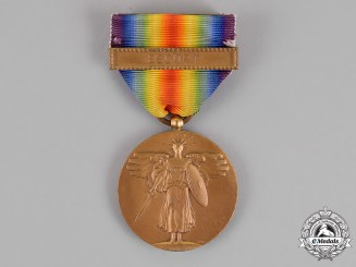 United States. A World War I Victory Medal. Escort