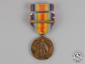 United States. A World War I Victory Medal, Italy