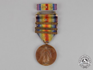 United States. A World War I Victory Medal, Three Clasps