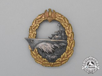 An Early Manufacture Kriegsmarine Destroyer War Badge