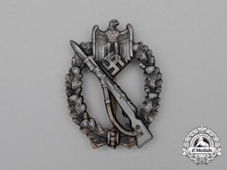 A Second War German Silver Grade Infantry Assault Badge by Ferdinand Wiedmann