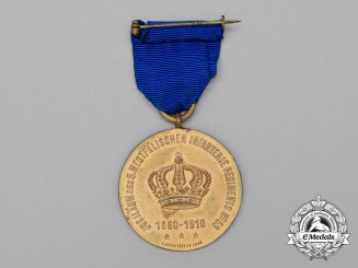 A 1910 50-Year Anniversary of the 5th Westphalian Infantry Regiment No53 Medal