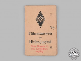 Germany, HJ. A HJ Leader's Identification Booklet to Helmut Schulz