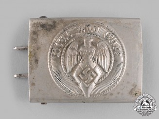 Germany, HJ. An EM/NCO's Belt Buckle by Friedrich Linden