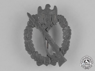 Germany. A Second War Period Silver Grade Infantry Assault Badge by Rudolf Souval