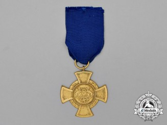 A Third Reich German Danzig Faithful Service Decoration; First Class