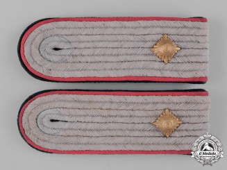 Germany, Waffen-SS. A Pair of Panzer SS-Obersturmführer Shoulder Boards