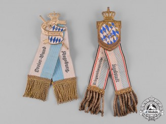 Bavaria, Kingdom. A Pair of Veterans Association Badges