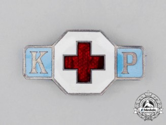 A Third Reich Period DRK (German Red Cross) Sisterhood Badge; Numbered