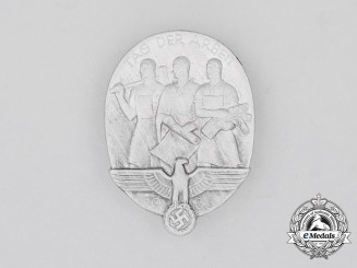 """A 1935 NSDAP """"National Day of Labour"""" Badge"""