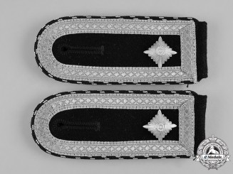 Germany, Heer. A Pair of Rare Armoured Combat Engineer Sergeant Shoulder Boards