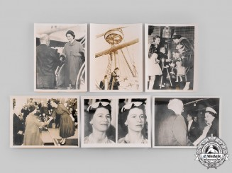 United Kingdom. A Lot of Six Queen Elizabeth II State Visit to the United States Press Photographs 1957