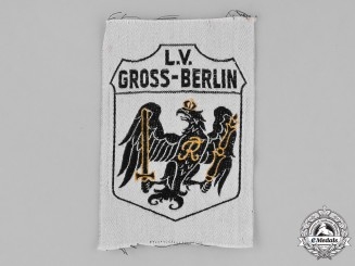 Germany, Weimar. A Stahlhelm Gross-Berlin (Greater Berlin) Sleeve Patch