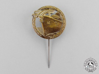 Germany, Kreigsmarine. A Blockade Runner Badge Miniature Stick Pin