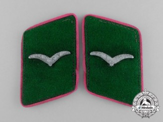 A Matching Set of Luftwaffe Field Division Marksman Rank Collar Tabs