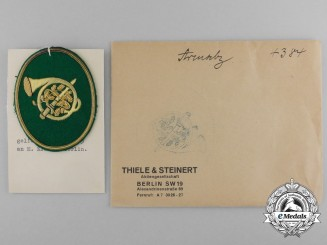 A Mint and Unissued Revierjäger Sleeve Patch by Thile & Steinert; Dated 1935