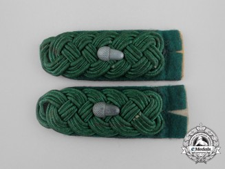 A Set of German Oberforstmeister Rank Shoulder Boards