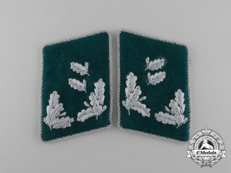 A Mint and Unissued Set of German Revierförster Rank Collar Tabs