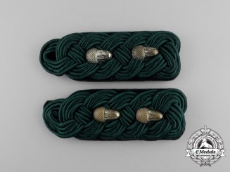 A Set of German Hauptforstmeister Rank Shoulder Boards