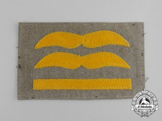 A Tropical Luftwaffe Generalleutnant Sleeve Rank Patch; Uniform Removed