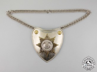 A Fine SA/SS Flag Bearer's Gorget with Chain