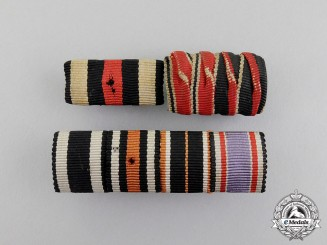 Three First and Second War German Medal Ribbon Bars