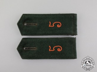 A Fine Matching Set of Third Reich Period Transitional Shoulder Boards