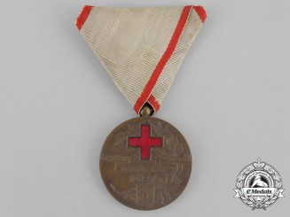 A Serbian Medal of the Red Cross Society; Type I (1912-1921); Bronze Grade