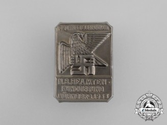 A 1933 Mittelfranken Region Meeting of Civil Servants Badge