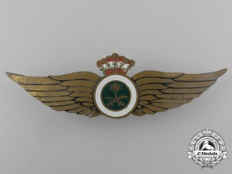 A Saudi Arabia Air Force Pilot's Wings Badge