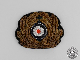 Germany. A Kriegsmarine Officer's Bullion Visor Cap Wreath
