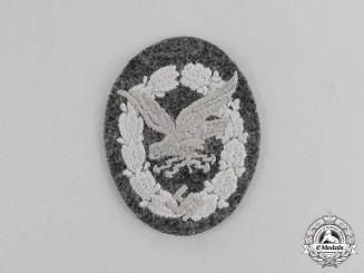 Germany. A Mint and Unissued Luftwaffe Radio Operator & Air Gunner Badge; Cloth Version
