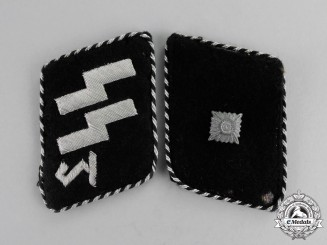 Germany. A 1934-1940 Issue SS Unterscharführer Rank Collar Tabs; Type II