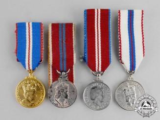 Four Queen Elizabeth II Miniature Medals
